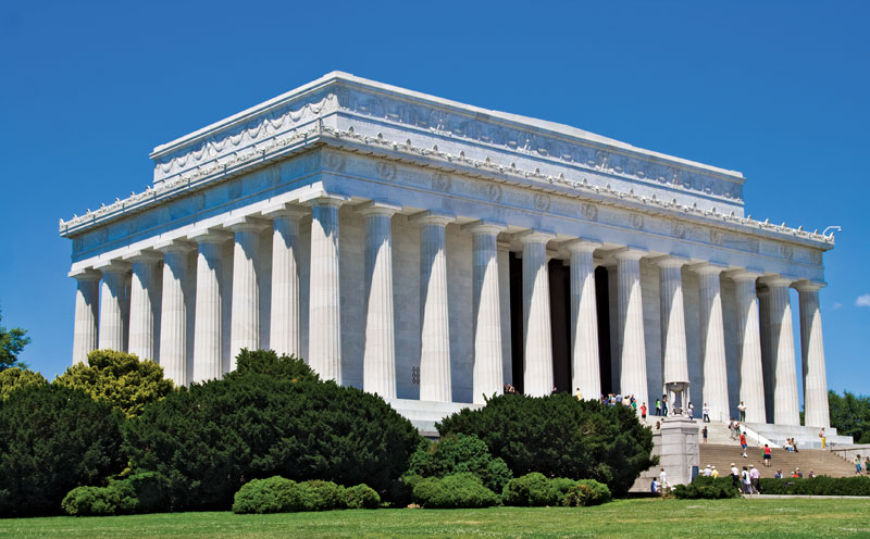 Lincoln Memorial monument, Washington, District of Columbia, AS